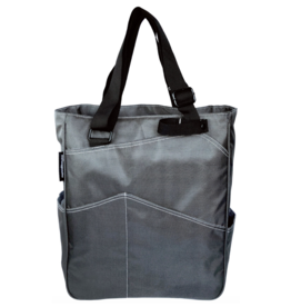 MAGGIE MATHER TENNIS ZIPPER TOTE: PEWTER