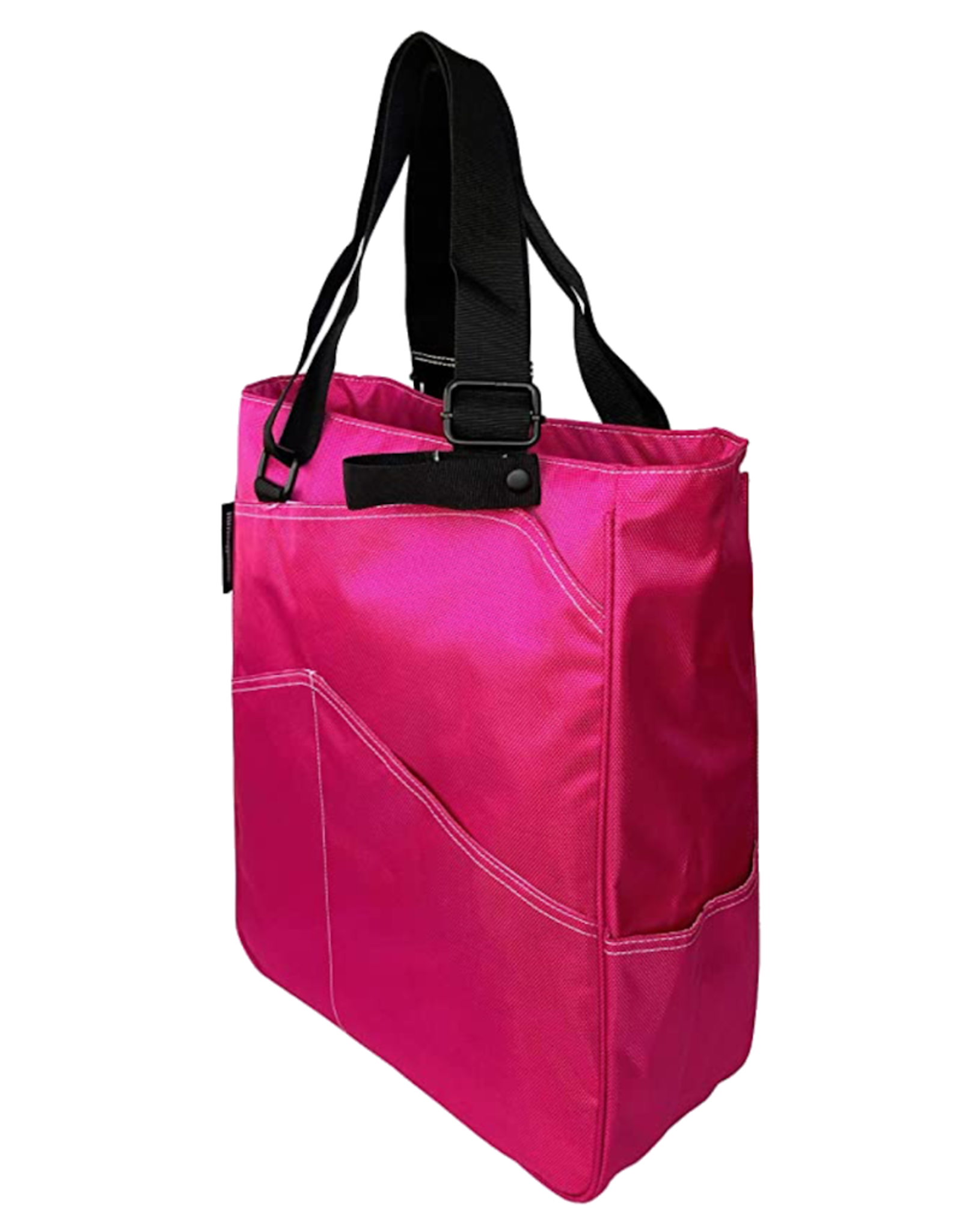 TENNIS ZIPPER TOTE: FUCHSIA