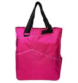 MAGGIE MATHER TENNIS ZIPPER TOTE: FUCHSIA