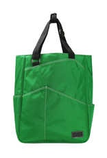 MAGGIE MATHER TENNIS ZIPPER TOTE: EMERALD