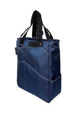 MAGGIE MATHER TENNIS ZIPPER TOTE: NAVY