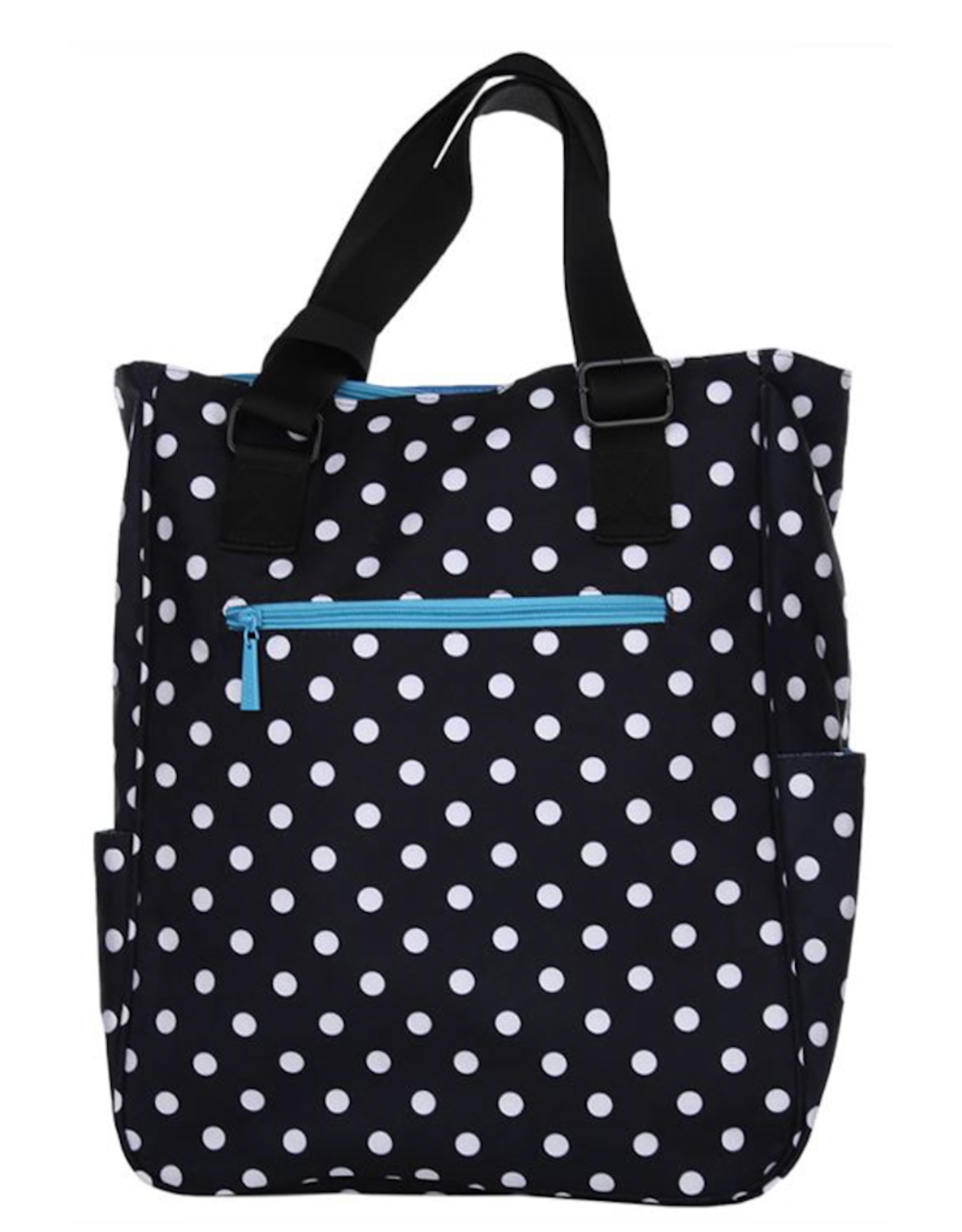 MAGGIE MATHER TENNIS ZIPPER TOTE: POLKA DOT