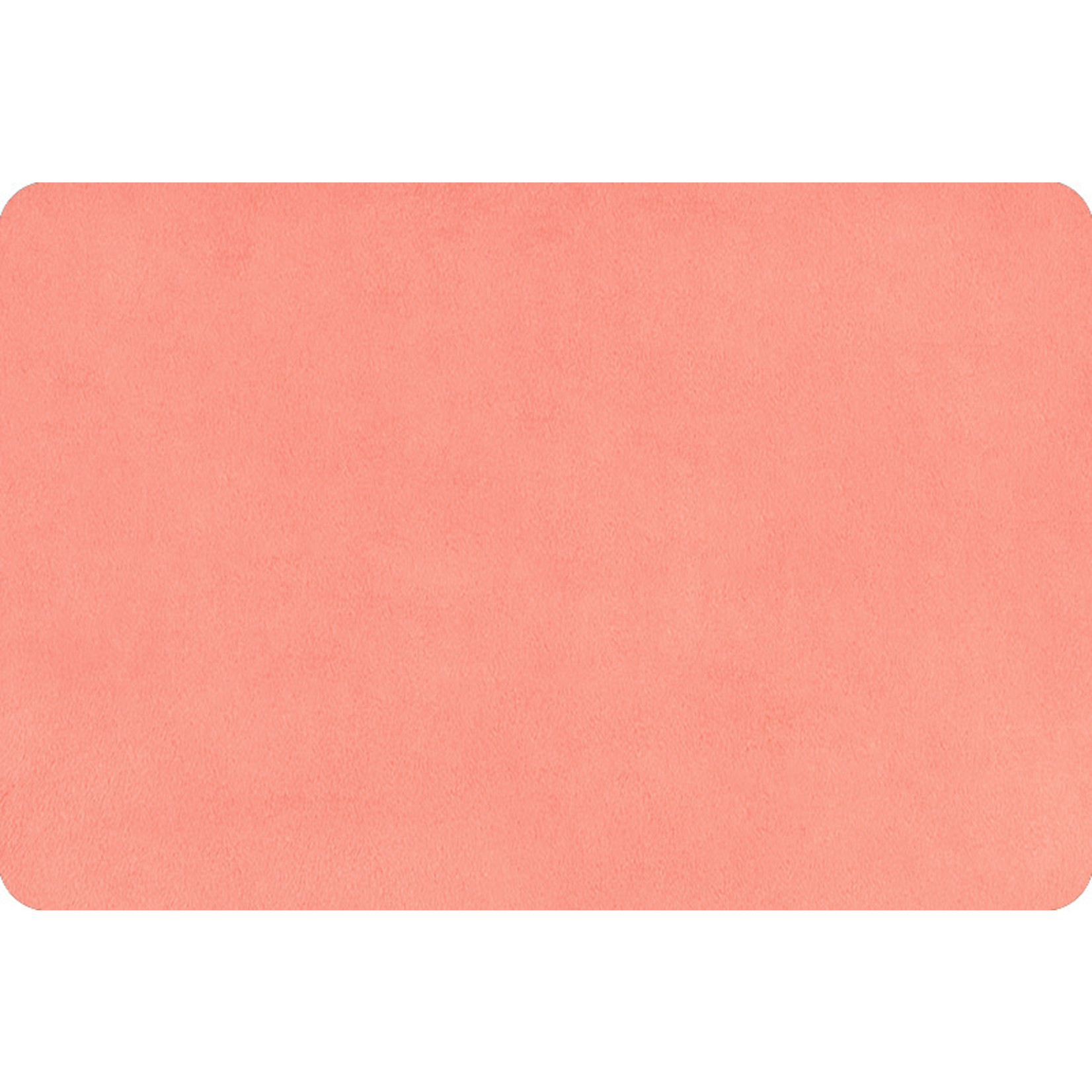 """Shannon Fabrics Minky, Extra Wide Solid Cuddle3, 90"""" Coral, (by the inch)"""