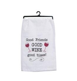Flour Sack Towel Good Wine