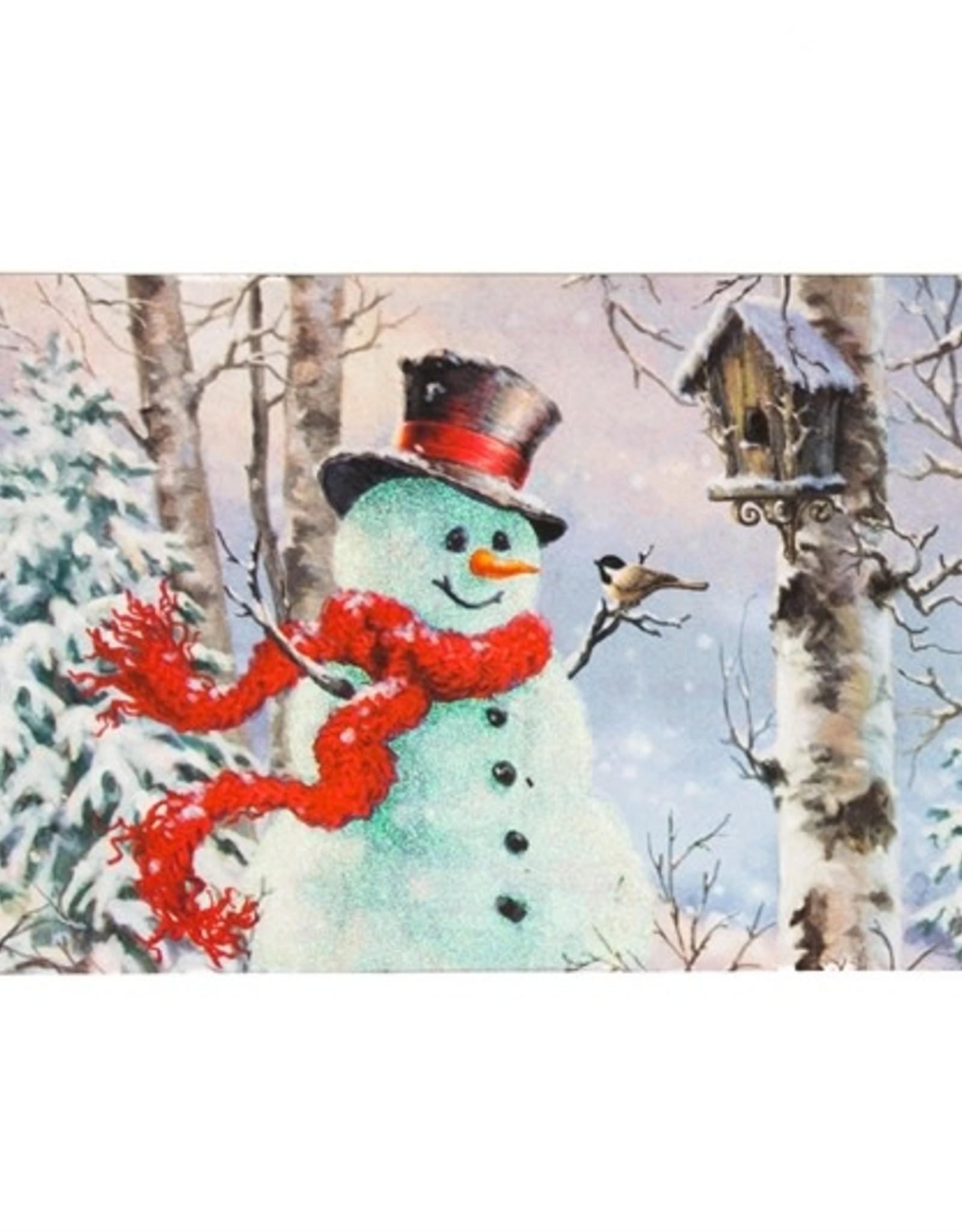 Birch Forest Snowman Switch Mat Insert