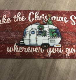Christmas Camper Switch Mat Insert