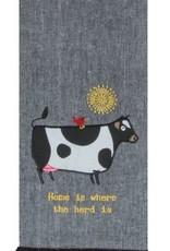 Farm Charm Cow Tea Towel