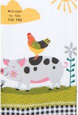 Farm Charm Pig Dual Purpose Tea Towel