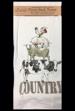 Farm Life Flour Sack Tea Towel Country