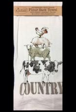 Farm Life Flour Sack Tea Towel Country