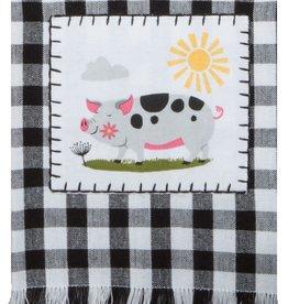 Farm Charm Pig Tea Towel