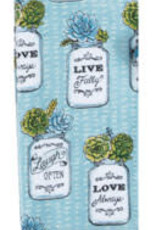 Garden Succulents Terry Towel