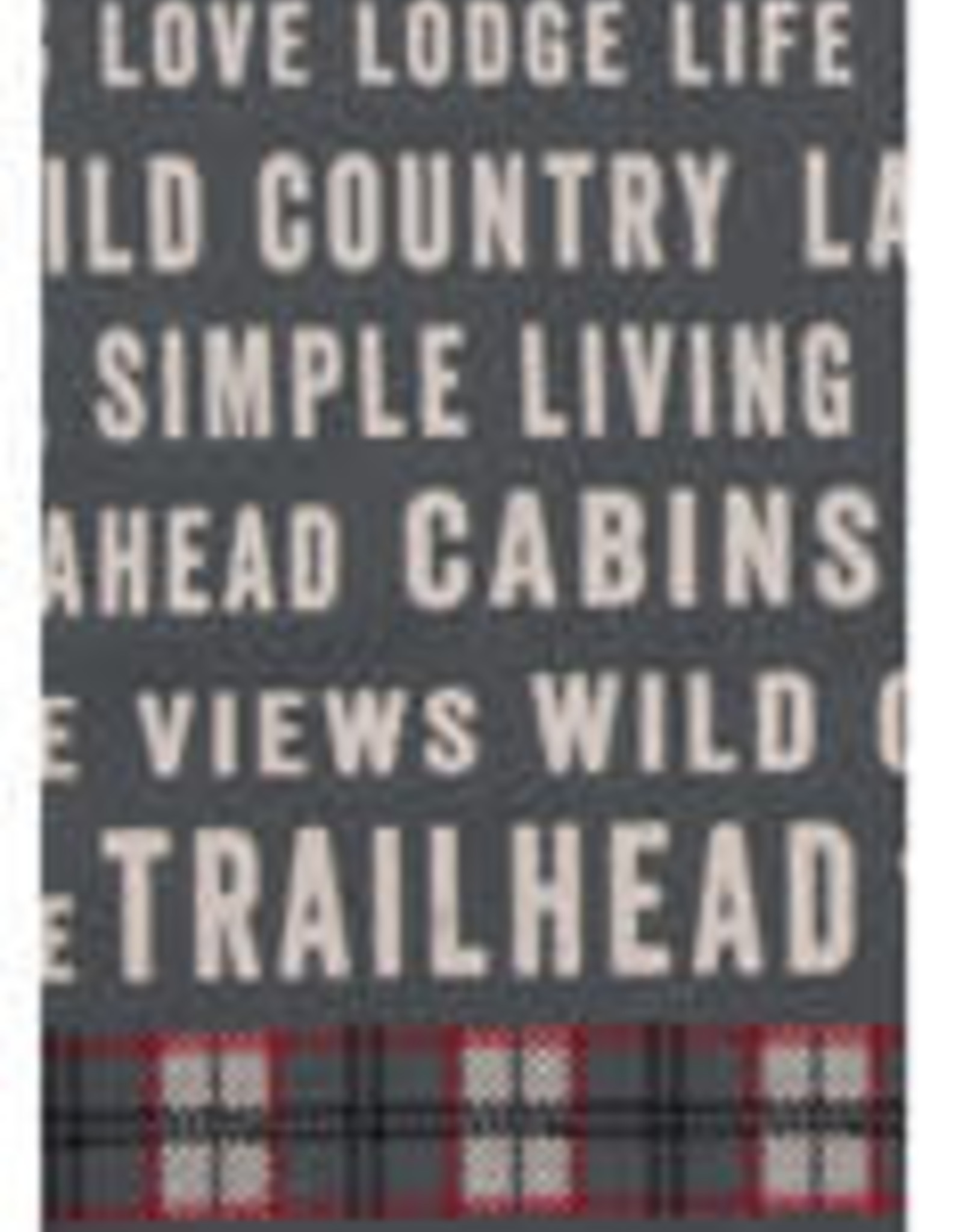 Trailhead Grey Tea Towel