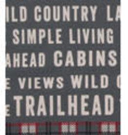 Trailhead Grey Tea Towel