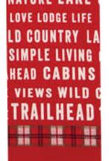 Trailhead Red Tea Towel