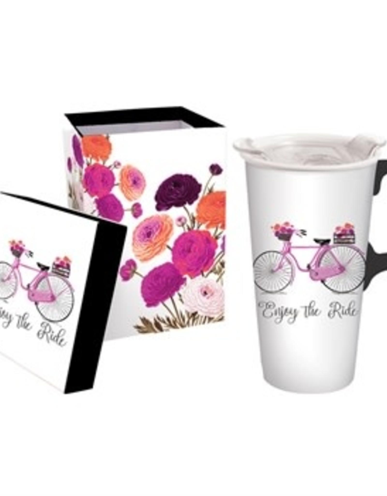 17oz Ceramic Travel Mug with Decorative Box