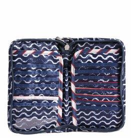 Lug Tandem Zip Travel Wallet - Navy