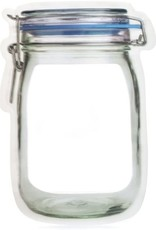 Large Ziplock Mason Jar Shape (set of 2)