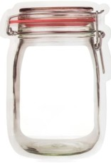 Medium Ziplock Mason Jar Shap (set of 3)