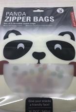 Panda Zipper Bags set of 3