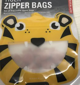 Tiger Zipper Bags  Set of 3