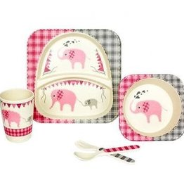 Kids Set Elephant Bamboo Fiber