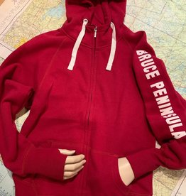 Ladies Bruce Peninsula Full Zip Hoody Sweatshirt