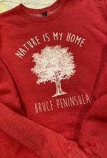 Unisex Nature is My Home Crew Neck Sweatshirt