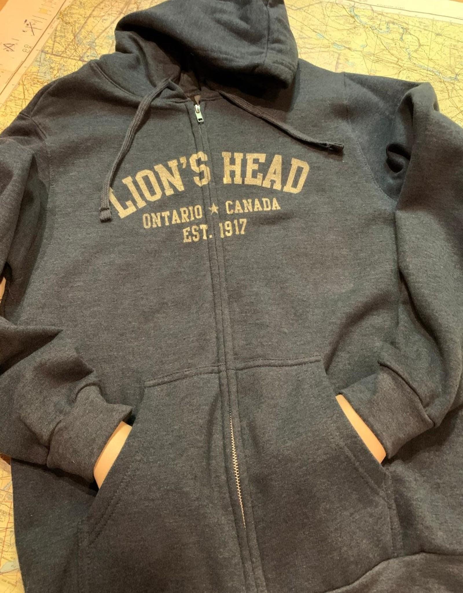 Unisex Lion's Head Full Zip Hoody