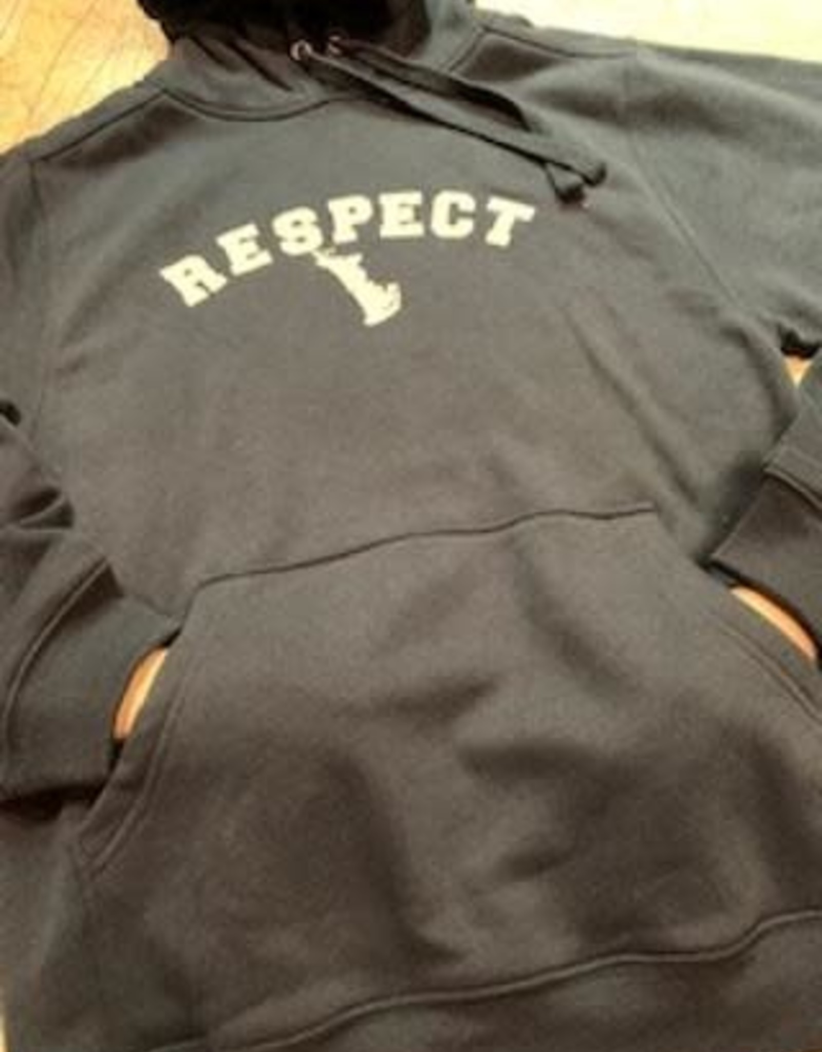 "Unisex Hoody with Kangaroo Pocket ""Respect"""