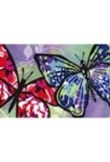 Painted Butterfly Switch Mat Insert