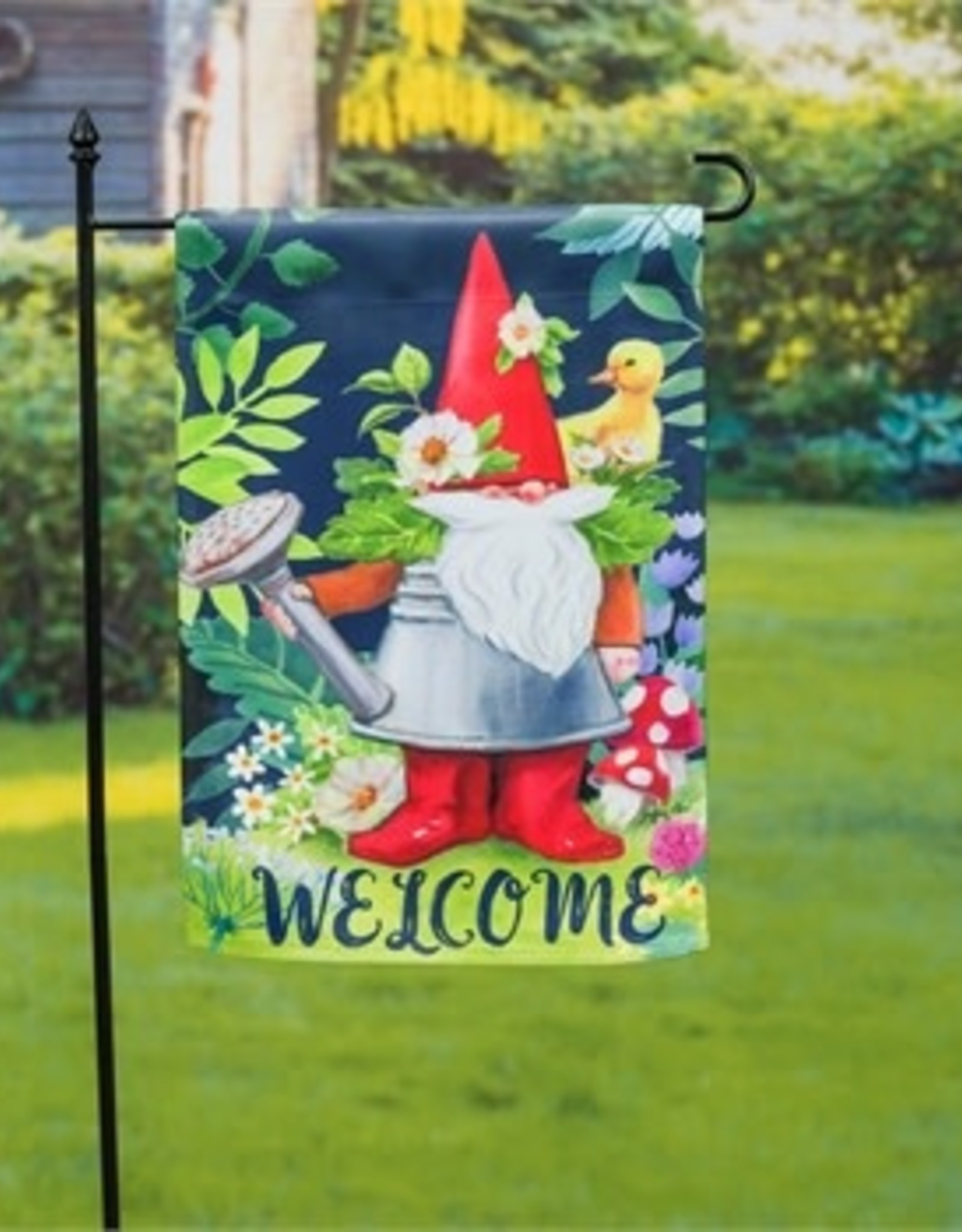 Gnomes In The Garden Flag