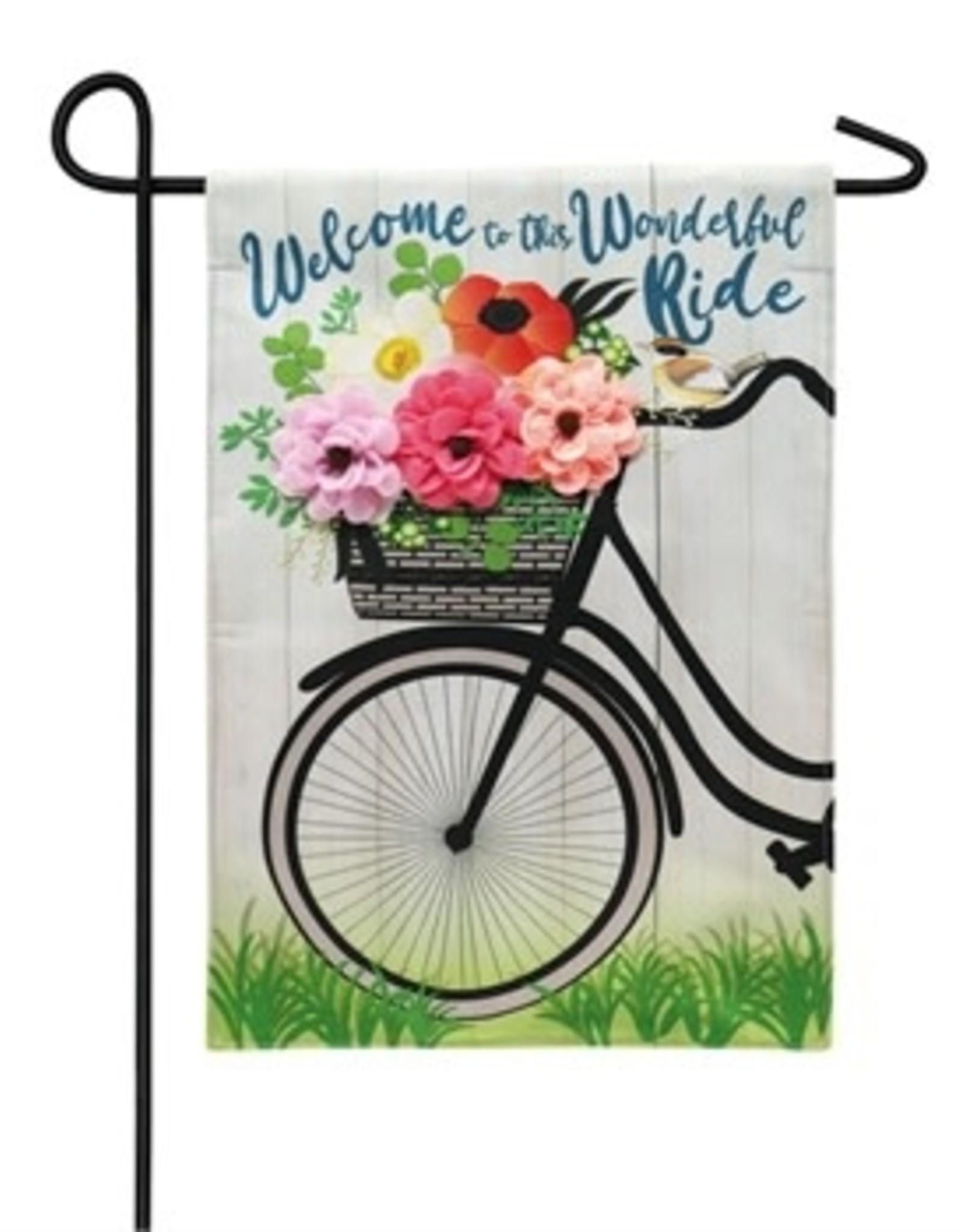 Wonderful Ride Garden Flag