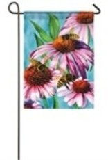Bees and Coneflower Garden Flag