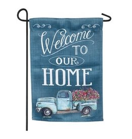 Floral Truck Welcome Flag