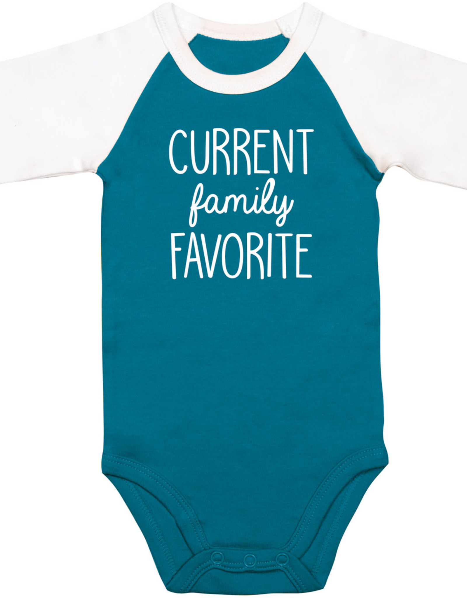 "Sidewalk Talk Onsie ""Current family Favorite"" 6-12 months"