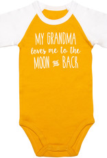 "Sidewalk Talk Onesie ""My Grandma loves me to the moon and back"" 12-24 months"