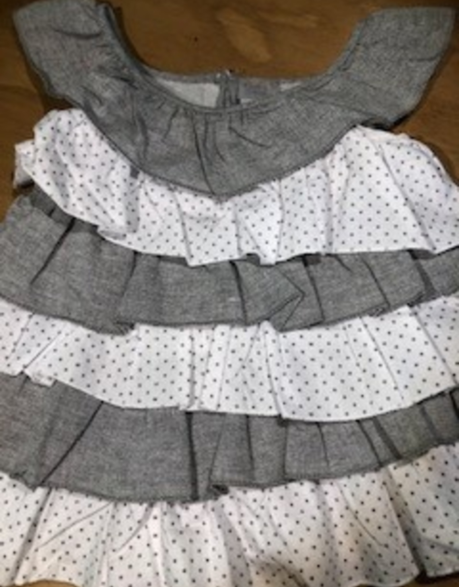 Grey and White Layered Dress 6-12 Months