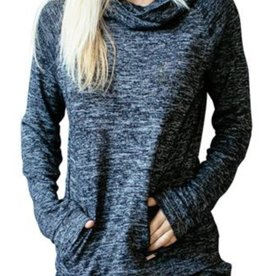 Hello Mello Carefree Threads Cowl Neck Lounge Top