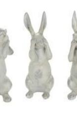 Hear/See/Speak No Evil Bunnies Set of 3