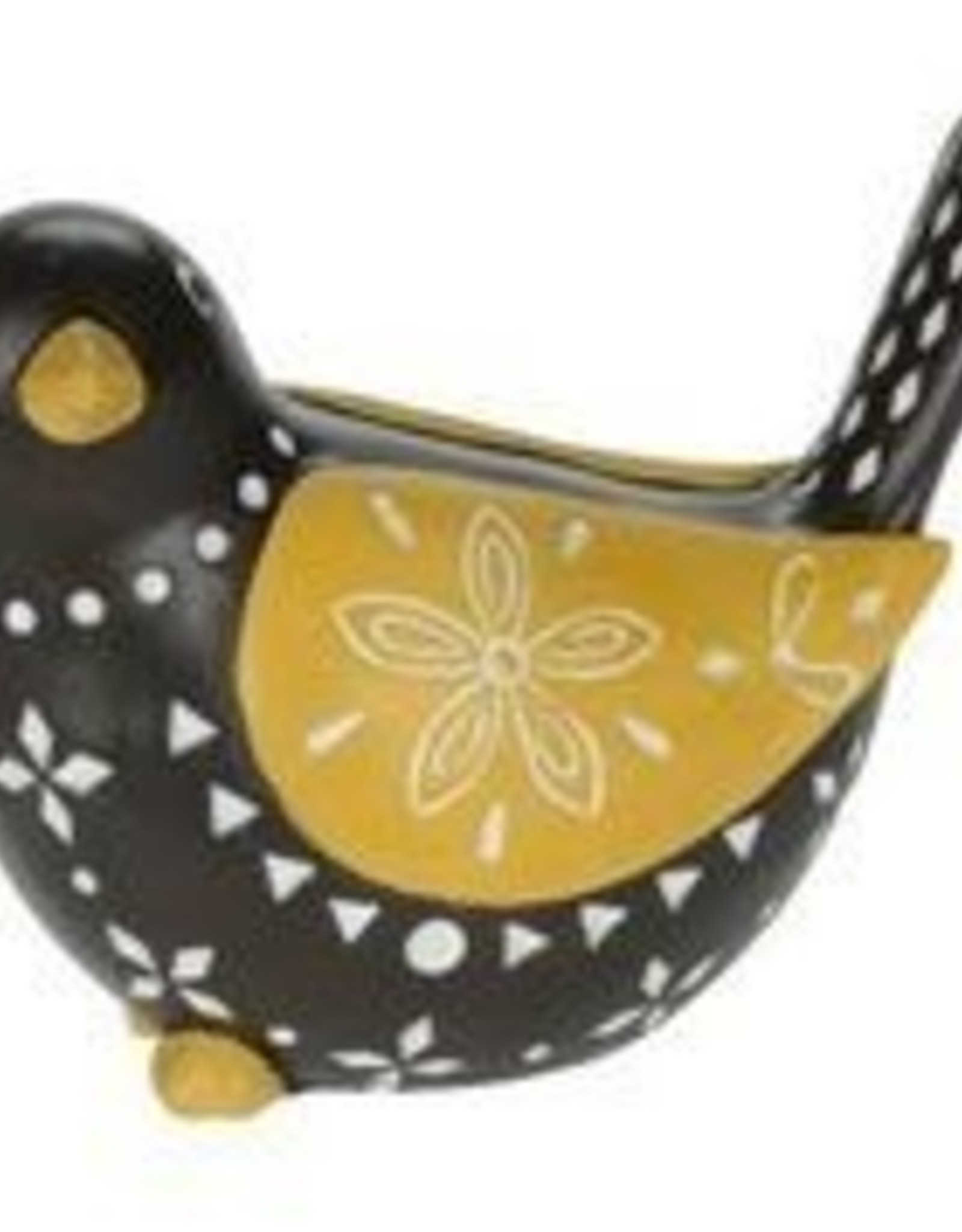 Black & Yellow Pointelle Bird 8""