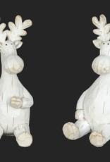 """White Sitting Moose 6.5"""""""