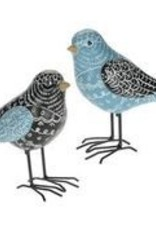Black & Blue Scribbles Bird 5""