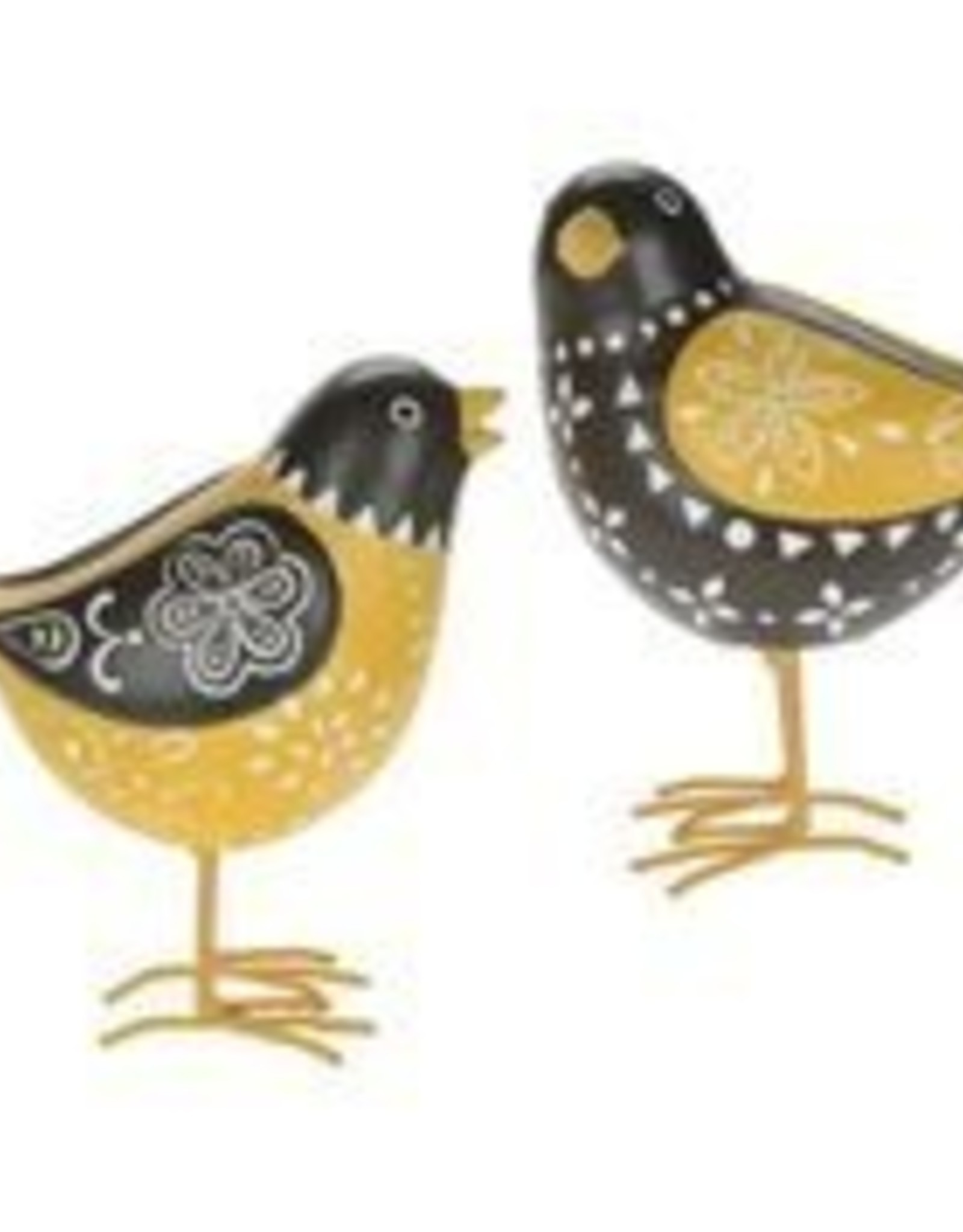 Black & Yellow Pointelle Bird 5""