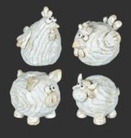 "Goofy Farm Animals Set of 4, 5"" x 4"""