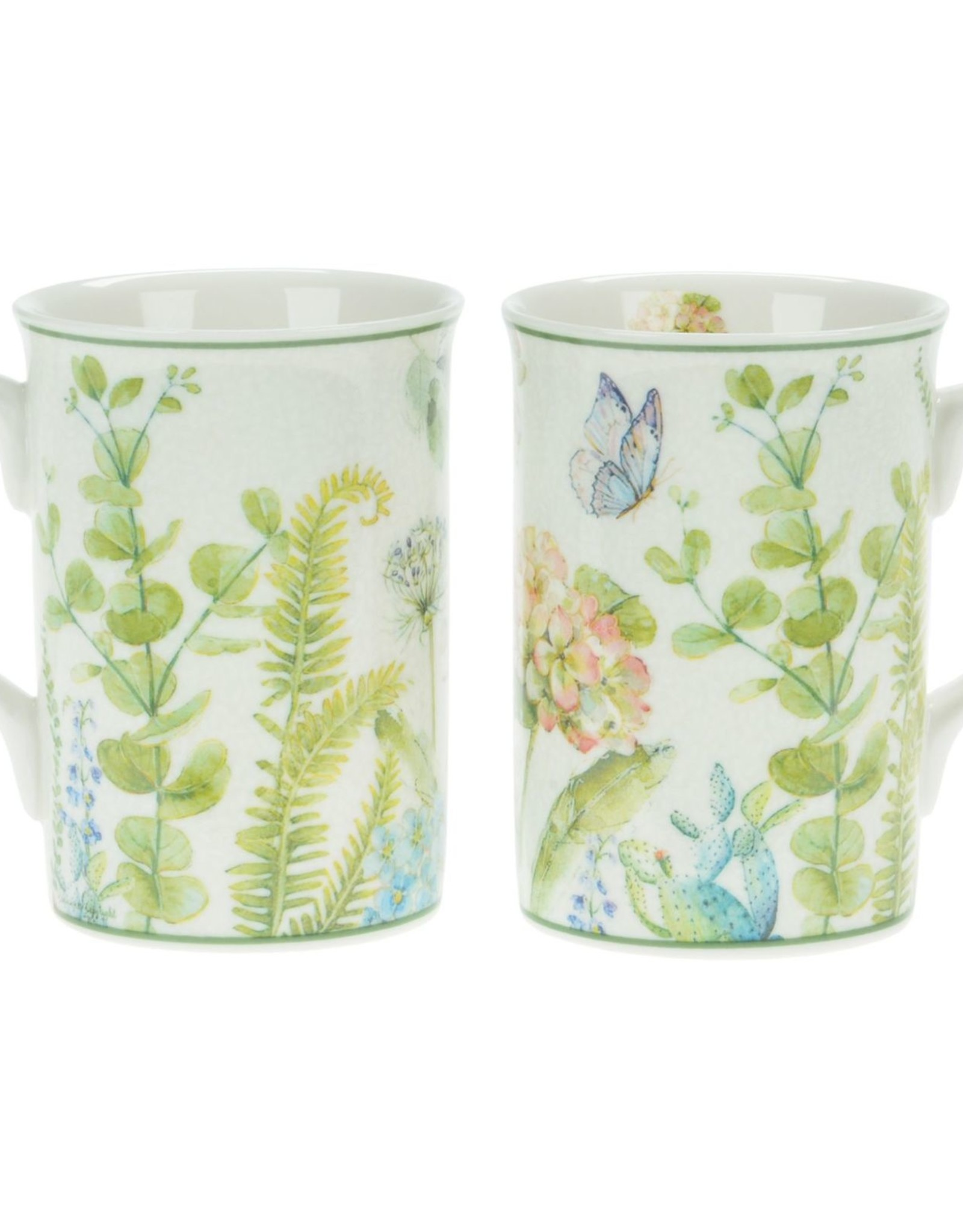 HYDRANGEA CHINA  MUGS SET OF 2