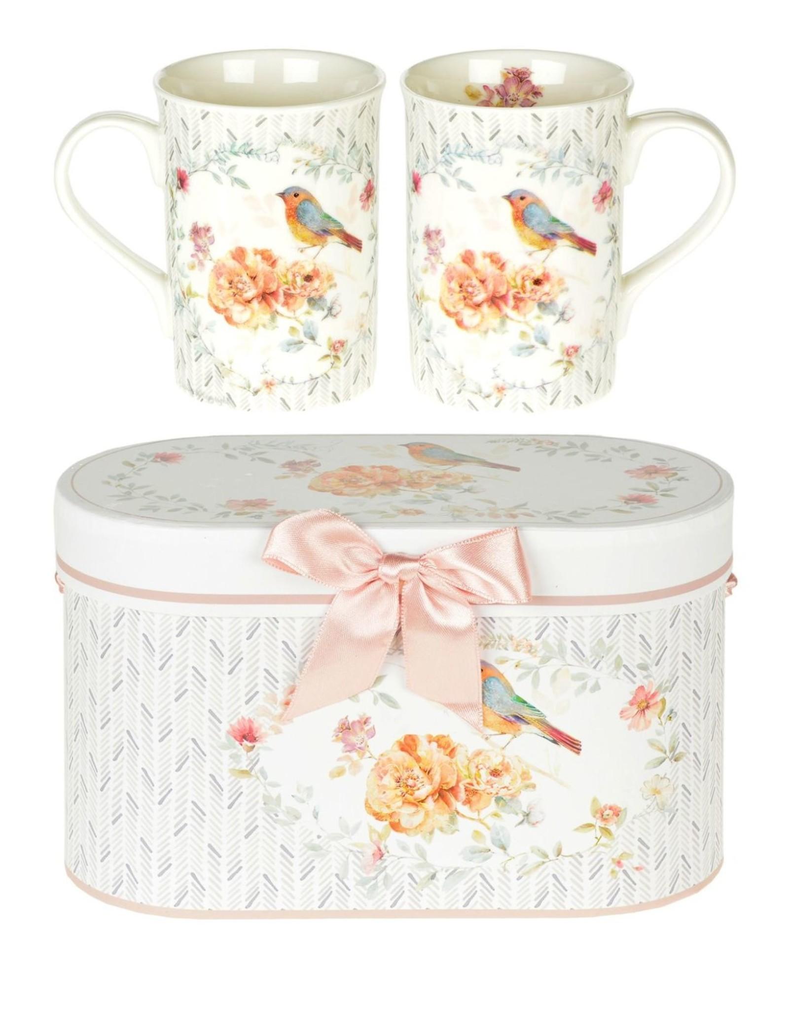 Bird China Mugs Set of 2