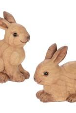 "Wood Look Sitting Rabbit 5"" x 4"""