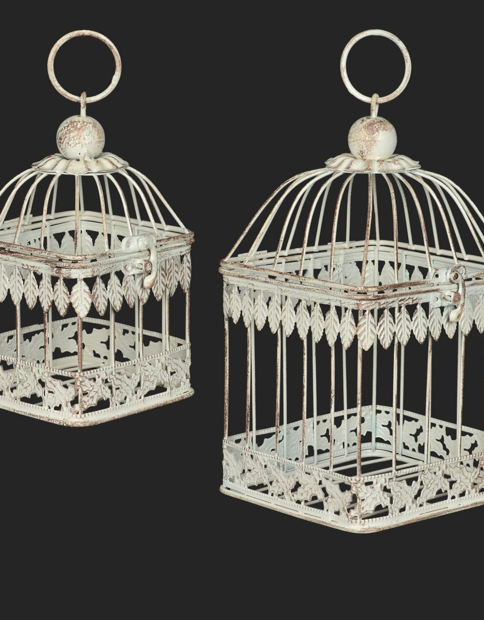 "Set of 2 Birdcages 11"" & 7"""
