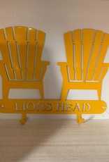 Murals In Metal Lions Head Yellow Coat Hook